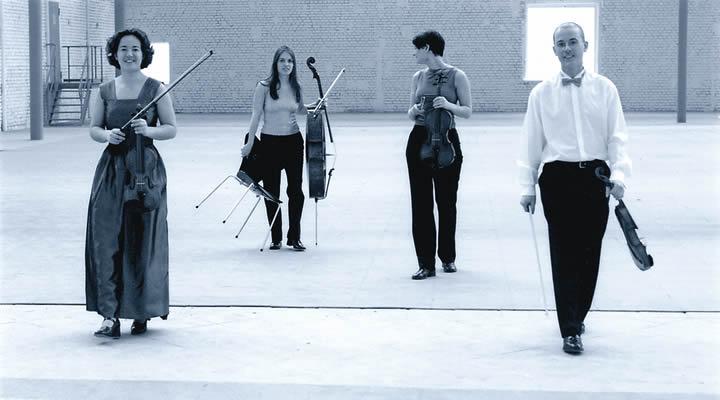 Die vier Streicher des Iturriaga Quartetts