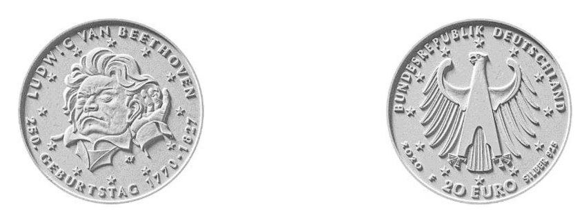 Münze für Beethoven.