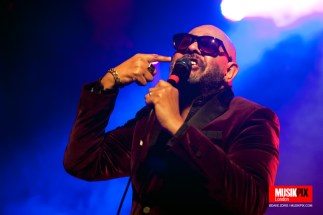 English rock musician Barry Adamson performed live at the Islington Assembly Hall in London. Adamson has worked with rock bands such as Magazine, Visage, The Birthday Party, Nick Cave and the Bad Seeds, and the electro musicians Pan sonic.