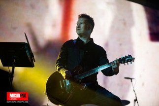 British band New Order performed live their only UK show at Alexandra Palace in London before heading off to South America. Friday 09 Noveember 2018