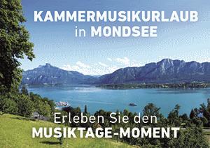 Kammermusik Urlaub Mondsee Salzkammergut