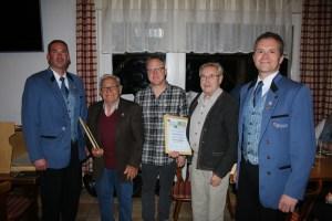 W. Widmann, Erich Botzenhard, Volker Schmid, Gebhard Gaus, A. Perthel (vlnr)