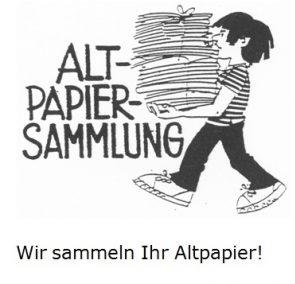 Altpapiersammlung am 14.10. – neuer Standort
