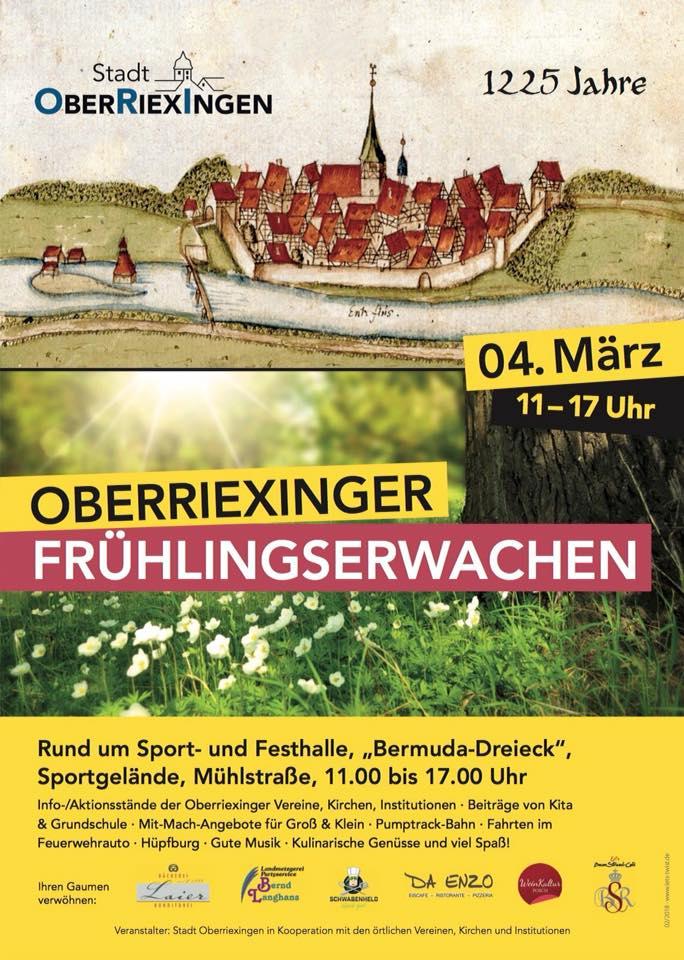 Ankündigung: Frühlingserwachen Stadt Oberriexingen