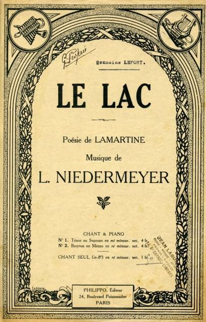 Niedermeyer : Le Lac