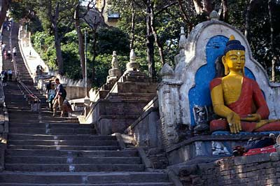 Akshobhya statue at the Swayambhunath Temple