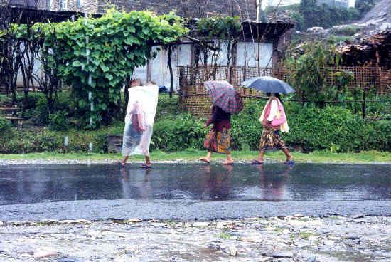 Local rain gear
