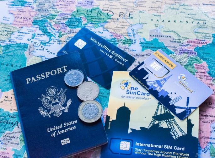Passport + map