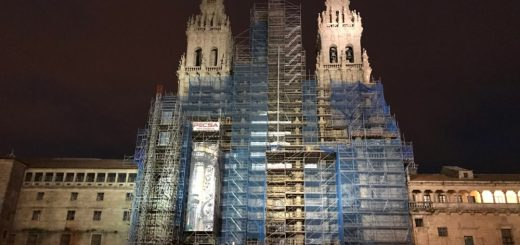 Cathedral of Santiago at night