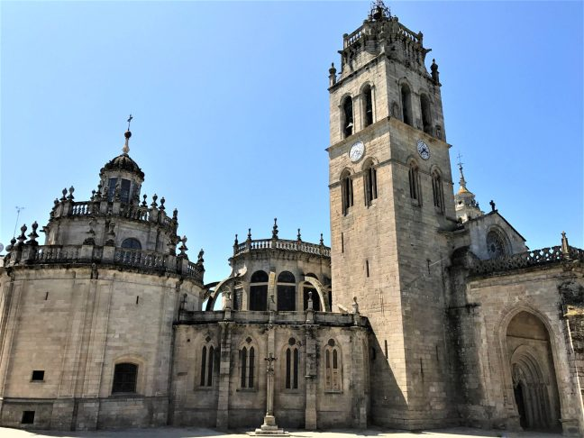 Lugo Cathedral from the side