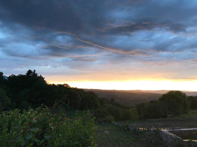 Sunset in Fonsagrada