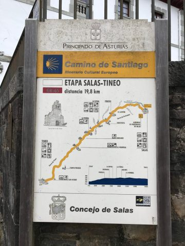 Today's stage-Salas to Tineo