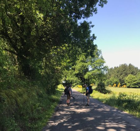 Billy and Steven on the road to Ponte Ferreira