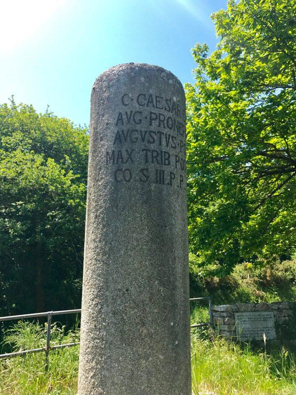 Roman stone milepost