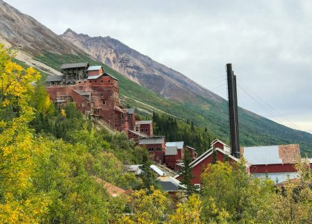 Looking back at the Kennicott Mine from the trail