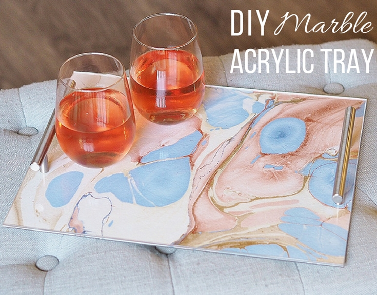 This DIY acrylic tray proves that big style doesn't have to cost big money. Based on a $420 design, this $30 tray makes a functional & gorgeous addition to any home.