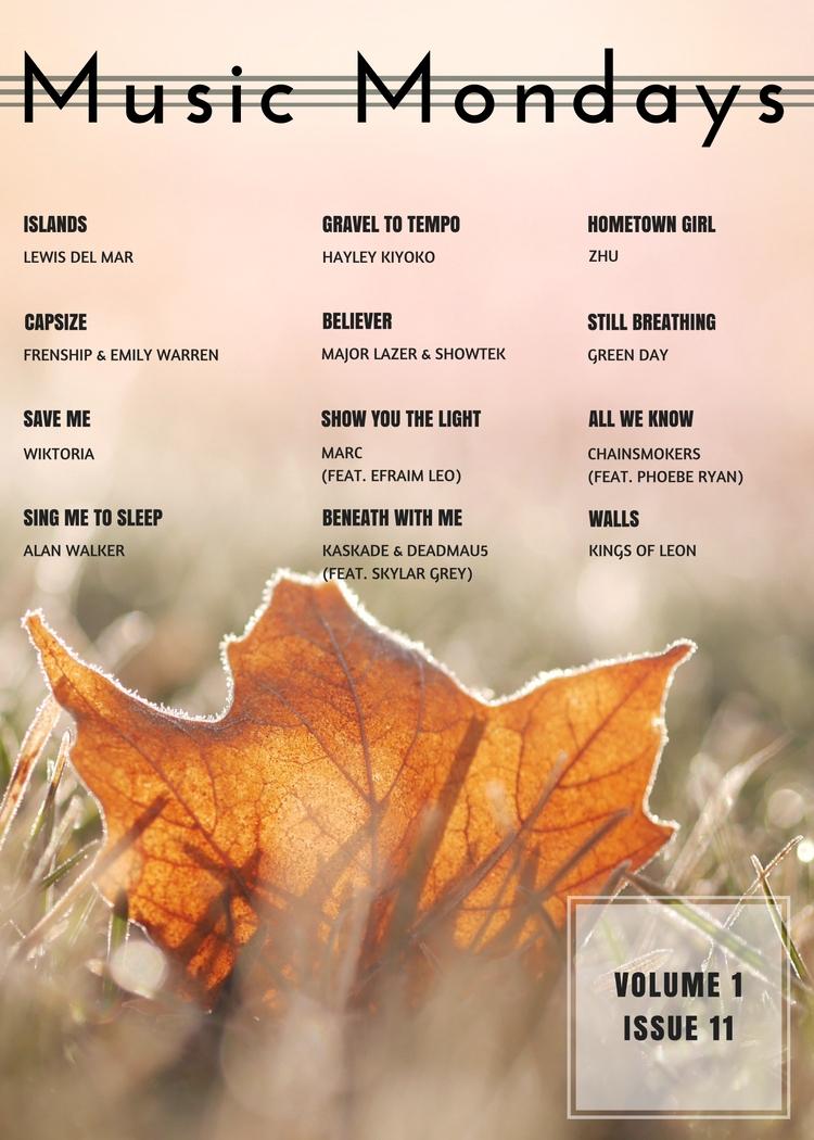 Music Mondays - October Playlist