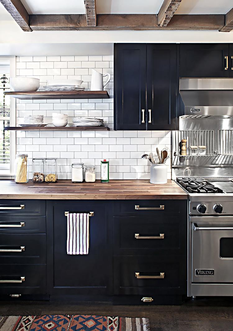 Mini Kitchen Makeover Dark Kitchen