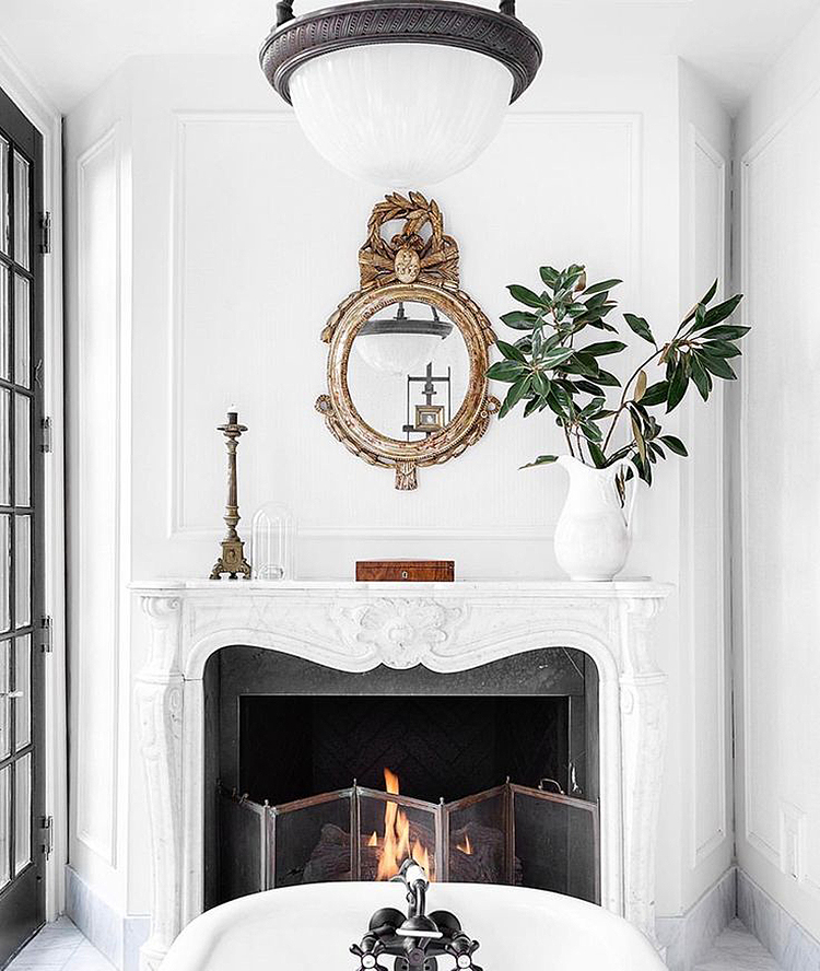 Minimalist Holiday Decor - Fireplace