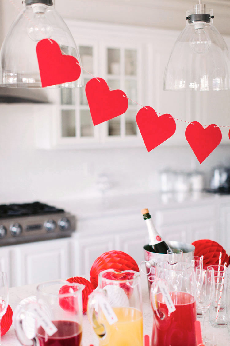 Minimalist Valentine's Day Decor - Hanging Hearts
