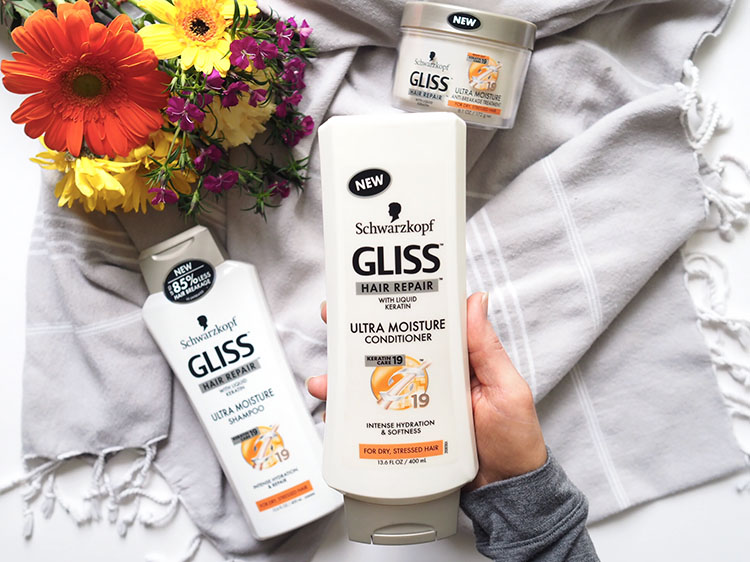 Focus on hair health in 2018 by incorporating the incredible restorative properties of Gliss Ultra Moisture products and my five steps to healthy hair into your daily routine. Gone are the days of dry, brittle hair. Here are the days of shiny, healthy locks!