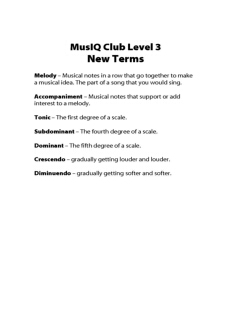 L3: TH New Terms
