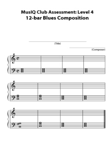 L4: Composition 12 Bar Blues Final Copy