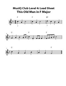 L4: LS This Old Man in F
