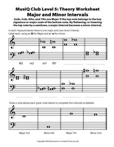 L5: TH Major and Minor Intervals