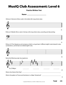 L6: Assessment Practice Written Test
