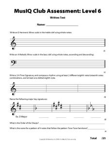 L6: Assessment Written Test