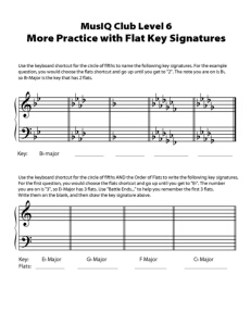 L6: TH More Practice with Flat Key Signatures