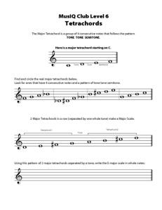 L6: TH Tetrachords