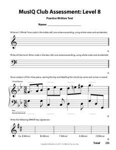 L8: Assessment Practice Written Test