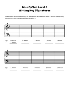 L8: TH Writing Key Signatures
