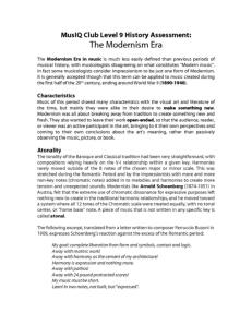 L9: History Modernism Era