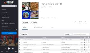 Play list Francce inter Biarritz - Musique-Basque.fr