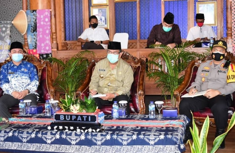 MUARA BELITI   – Pjs Bupati Musi Rawas Ahmad Rizali Rapat ikuti Koordinasi (Rakor) Analisa dan Evaluasi (ANEV) Pelaksanaan Kampanye Pilkada Serentak Tahun 2020.