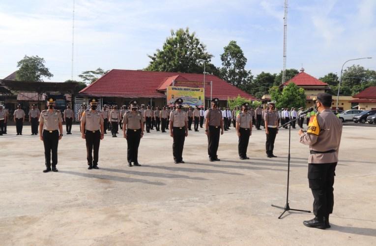 79 Personel Polres Musi Rawas Naik Pangkat