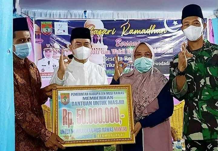 Wabup Safari Ramadhan ke Masjid Jami'atul Mualimin Desa Tri Karya Purwodadi