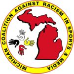 Michigan Coalition Against Racism in Sports & Media logo