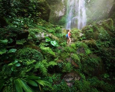 Waterfall in Honduras forest