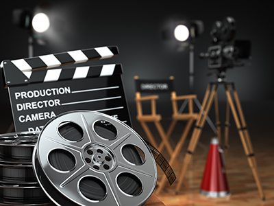 Images of objects related to film making
