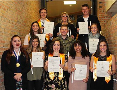 Phi Theta Kappa Honor Society Inductees October 2017