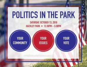 Politics in the Park graphic