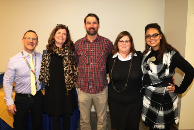 Honored for five years of service were: (left to right) Seth York, Kristine Anderson, Scott Kendall, Cyndi Langlois and Ashley Battle.