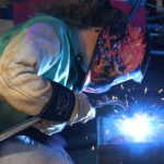 Competitor in Third Annual Muskegon Community College Welding Invitational