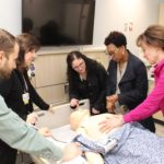 Muskegon Community College nursing faculty in the new SIM Lab inside the Health and Wellness Center