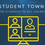Student Town Hall graphic