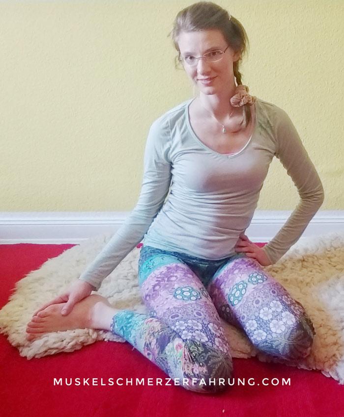 Knie, Hüfte und Fuß dehnen